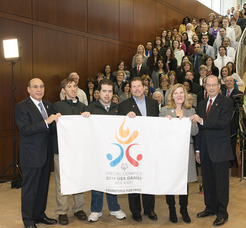 Barnabas Health Flag Raising for 2014 Special Olympics USA Games