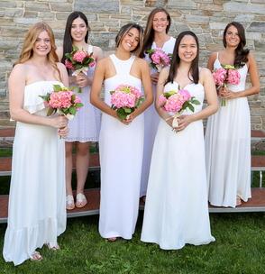 Short Hills residents (back row, l-r) Caroline Rosen, Elizabeth McGraw, Anne Stathis, (front row, l-r) Sydney Giordano, Victoria Sanzo de la Vega and Julia Mills