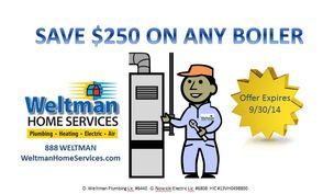 $250 OFF ANY NEW BOILER!, photo 1