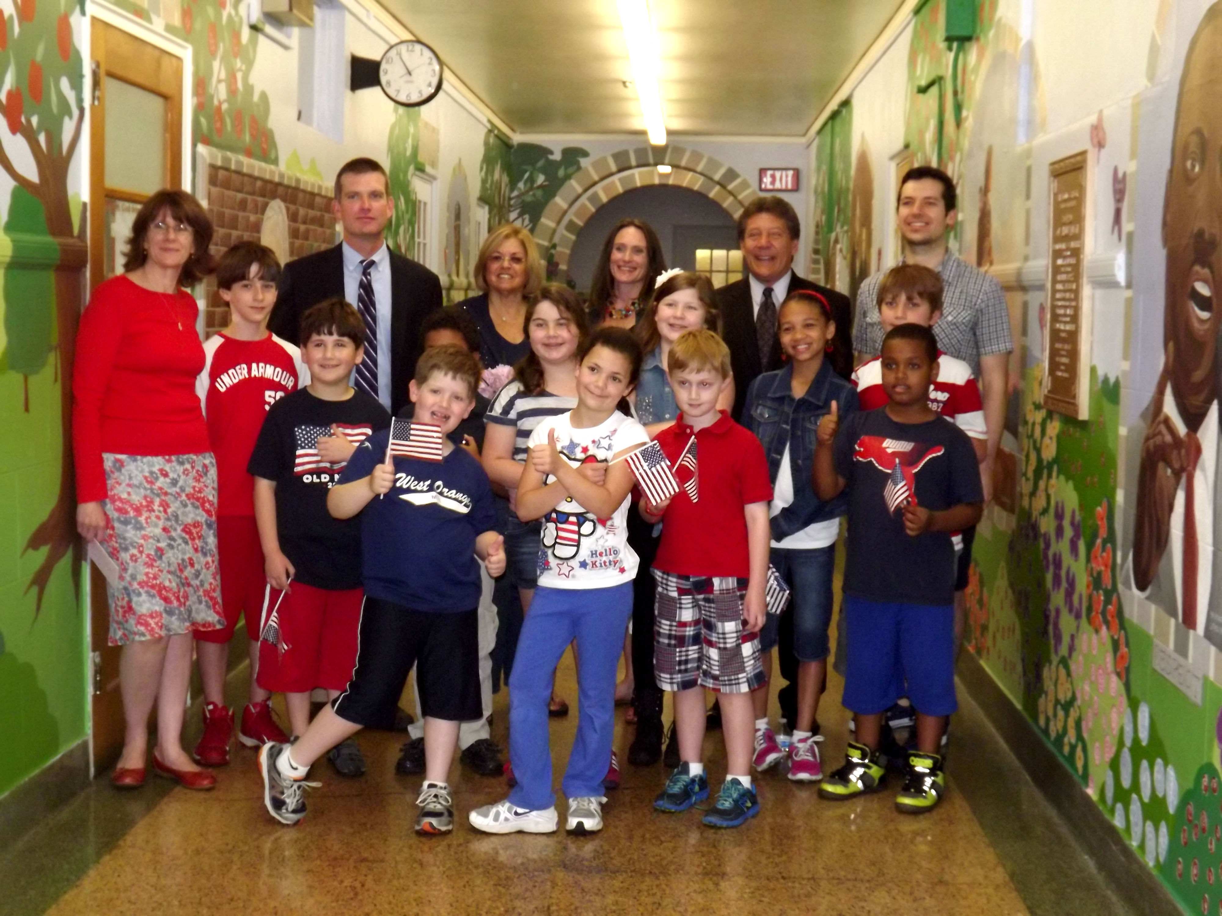 St. Cloud Elementary School Celebrates New Mural During Flag Day Ceremony