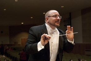 Matthew Paterno, conducting the Hanover Wind Symphony