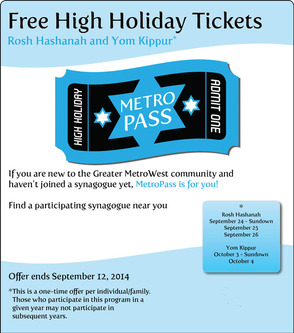 MetroPass: Enabling Members of the Jewish Community to Attend High Holiday Services For Free in 2014, photo 1