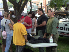 Scotch Plains Police demonstrate equipment during National Night Out