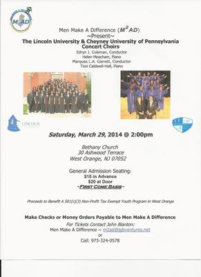 Lincoln and Cheyney University Choirs to Perform in West Orange, photo 1