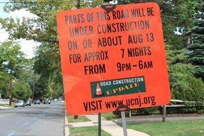 Roadwork to Begin 8/20