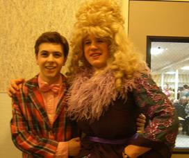 Erik Massenzio (left), who is one of the directors of the play and who plays Wilbur Turnblad, and Tom Adams (right) who plays Edna Turnblad.