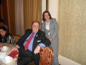 Mayor Joe Bruno and Mayor Ellen Dickson