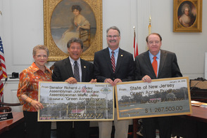 Codey, McKeon & Jasey Present More Than $1.5M   Green Acres Grant to Madison Mayor Towards  49 Acre Recreational Center  , photo 1