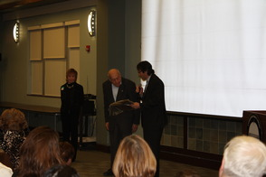 Micheal Rieber Awards Harry Ettlinger Honorary Plaque