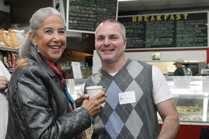 Garber Mingles with Fellow LACC Member Gella Seiden