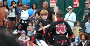 8th Degree Black Belt, Shihan Durand Howard students put on a demonstration