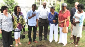 Roselle Community Joins Dr. Polk Family and Plants Time Capsule, photo 5