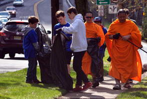 Teens and Monks join forces