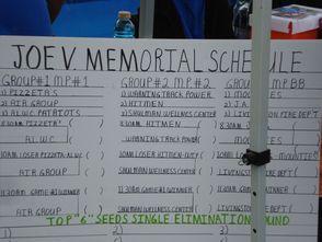Joe V. Memorial Schedule