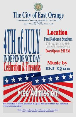 East Orange to Host Independence Day Celebration at Paul Robeson Stadium, photo 1
