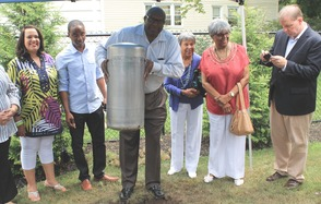 Roselle Community Joins Dr. Polk Family and Plants Time Capsule, photo 9