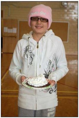 Gabby DeFilippo Throws First Pie
