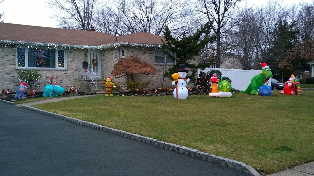 Grinch Visits Clark Vandalizes Lawn Decorations Clark