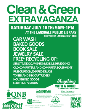 Recycle Electronics, Get Car Washed at 'Clean & Green Extravaganza' at Lansdale Library Saturday, photo 1
