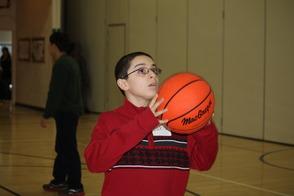 Chris Shoots Basketball