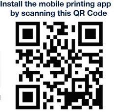 Wireless printing mobile app QR Code