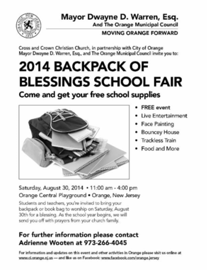 2014 Backpack of Blessings School Fair, photo 1