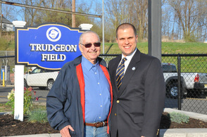 Thomas Trudgeon, Sr. and Town of Newton Town Manager, Thomas S. Russo, Jr.