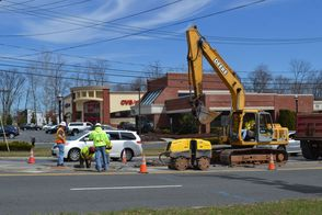 Construction on Washington Ave