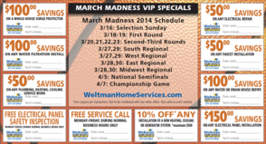 March Madness Savings - WELTMAN HOME SERVICES, photo 2