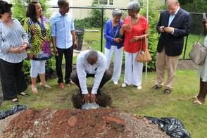 Roselle Community Joins Dr. Polk Family and Plants Time Capsule, photo 14