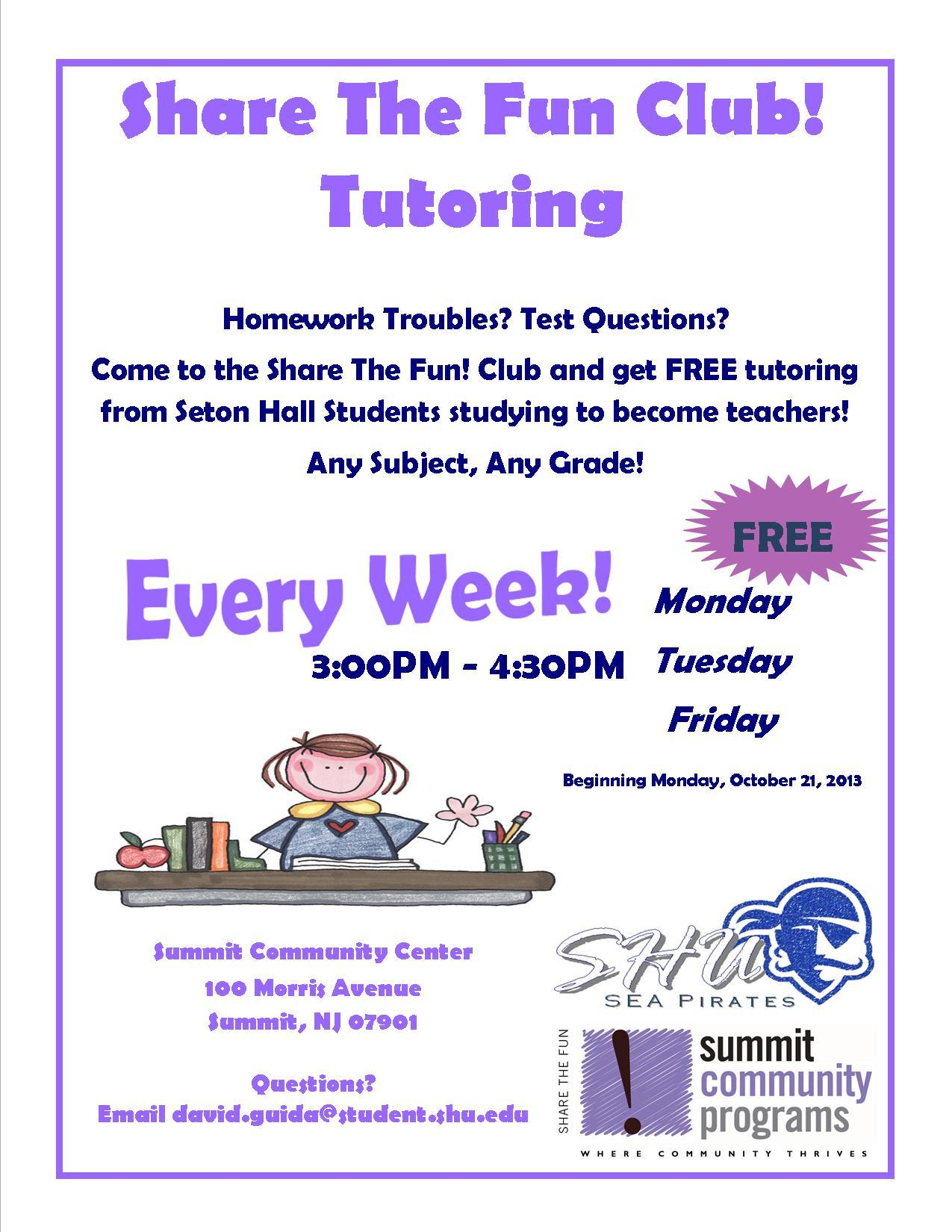 after school fun tutoring offered through summit dcp news content options