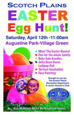 Scotch Plains Easter Egg Hunt at 11 am, photo 1