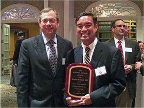 "Brach Eichler Presents ""Burton Eichler Award"" to St. Barnabas Medical Center's Dr. Ernani Sadural"
