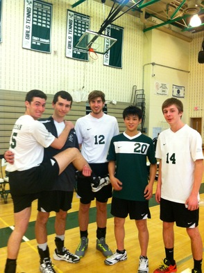 Boys Varsity Volleyball Happy After Their Wins