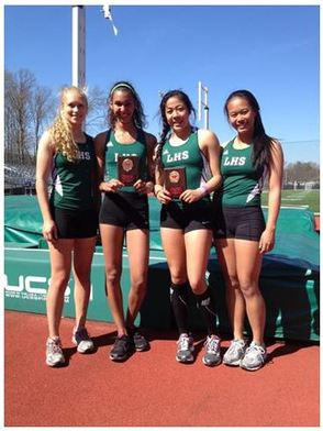 Lancers Girls Track Wins Shuttle Hurdles and Pole Vault At Morris Hills Relays