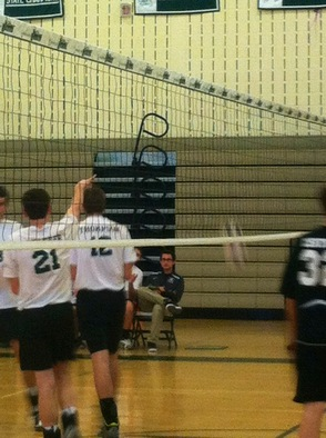 Jay Schaefer and Mikey Thompson After a Winning Point