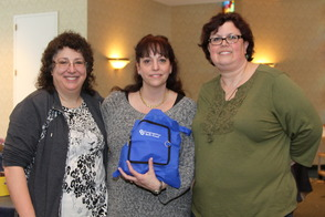 Pictured are (from left) Ilyse O'Desky, Marcia Wiener and Robin Sabony, chairs of Congregation Beth Israel's Purim outreach project.