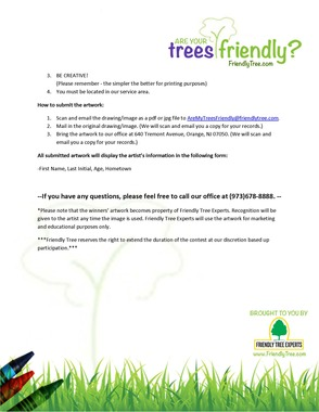 """""""Are Your Trees Friendly?"""" Art Contest"""