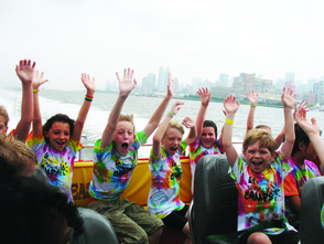 Last summer's Travel Camp on The Beast Speedboat Ride in New York City.
