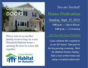 Habitat Dedication Flyer