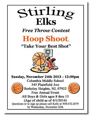 Annual Hoop Shoot on Sunday, Nov. 24 , photo 1