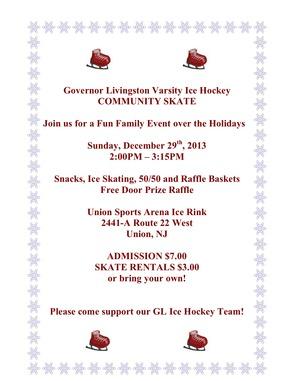Gov. Livingston Varsity Ice Hockey Community Skate, photo 1