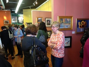 Artists and Guests at Livingston Gallery Reception