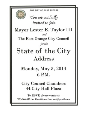 East Orange Taylor to Present First State of the City Address, photo 1
