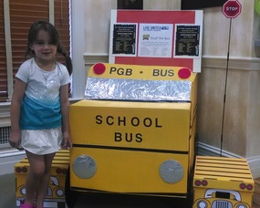 Peapack-Gladstone Bank's School Supply Drive collection bin in Bernardsville