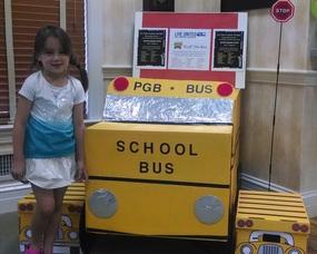 Peapack-Gladstone Bank's School Supply Drive collection bin in Bernardsville