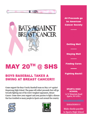 Sparta High School Baseball Team to Pink Out
