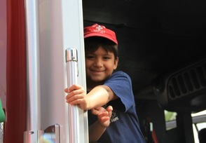 Smiles in the Fire Truck
