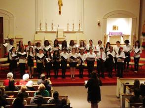 The Aquinas Academy Senior Choir Performs at the Christmas Concert