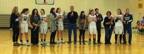 Lady Lancers at Senior Night